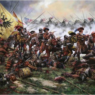 Escultura historica lamina dalmau Batalla de pavia