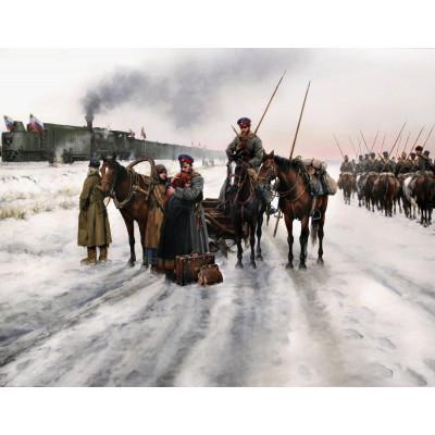 Escultura historica lamina dalmau despedida rusa