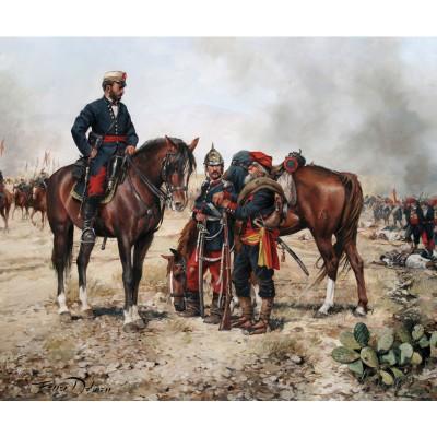Escultura historica lamina dalmau el ultimo combate del glorioso