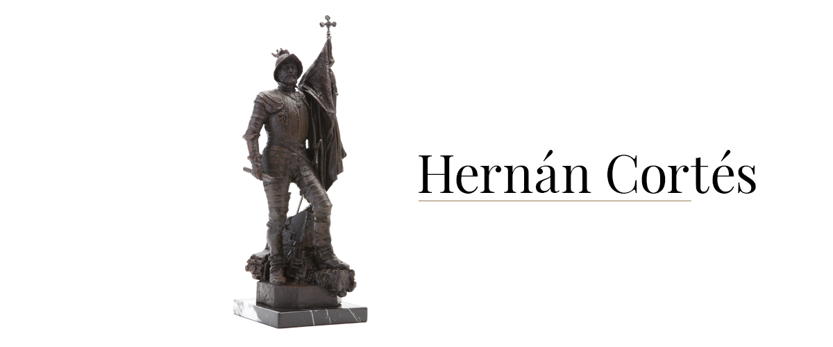 hernan cortes escultura historica