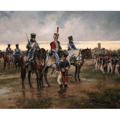 Escultura historica lamina dalmau la batalla de vitoria
