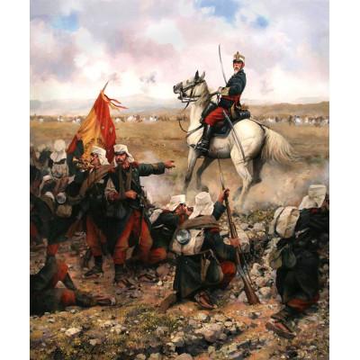 Escultura historica lamina dalmau la guerra de margallo
