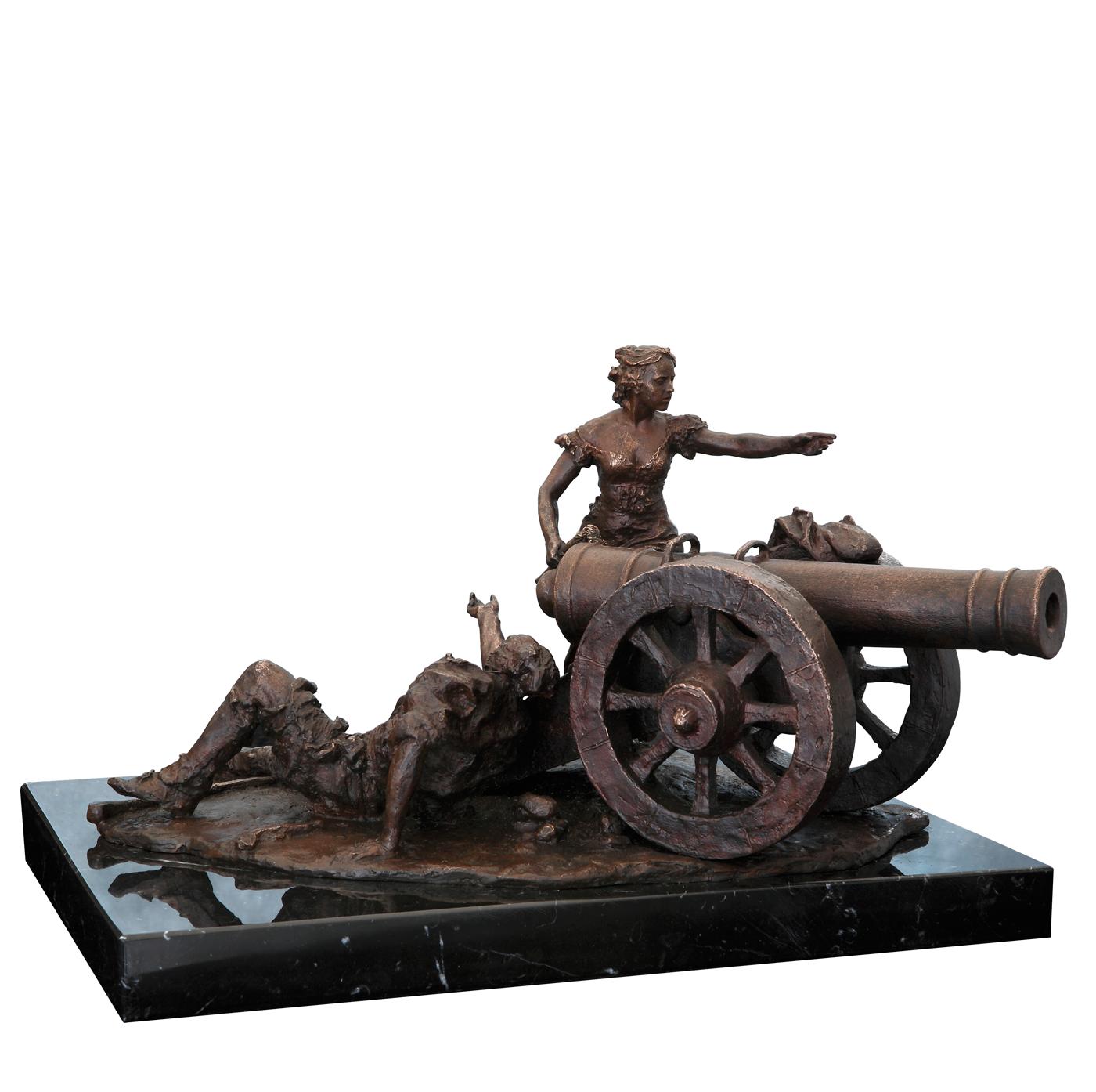 Escultura historica Agustina de Aragón