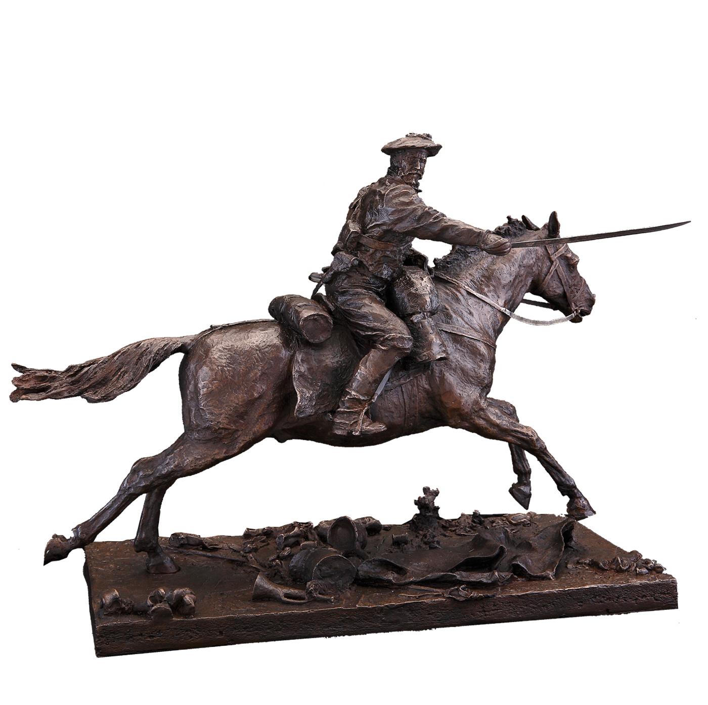 Escultura carga Carlista escultura histórica Madrid