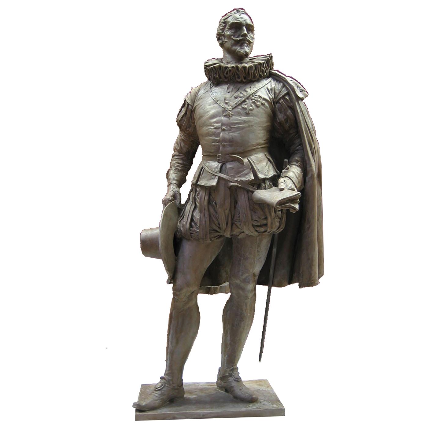 Escultura historica Cervantes Madrid