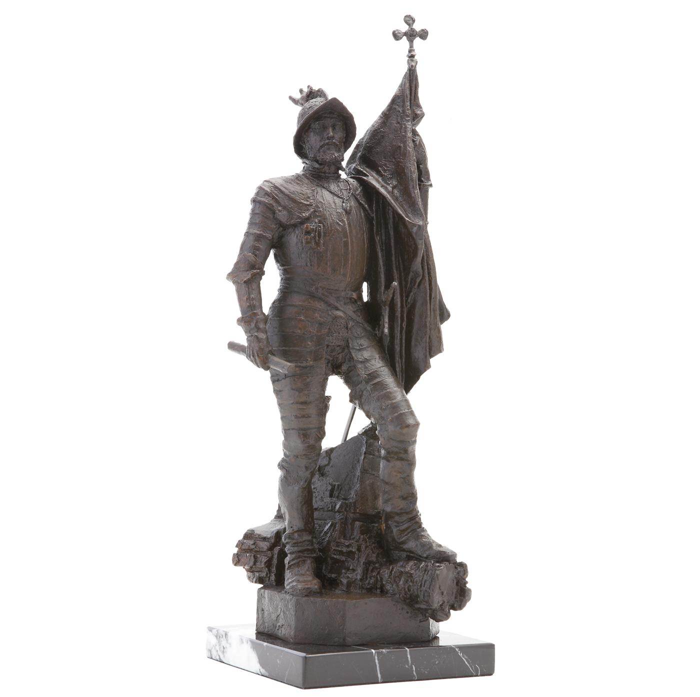 Hernán cortés escultura histórica Madrid