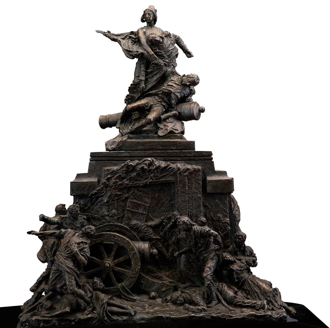 Escultura Héroes independencia escultura histórica Madrid